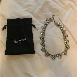 Baublebar clear stone and brass necklace